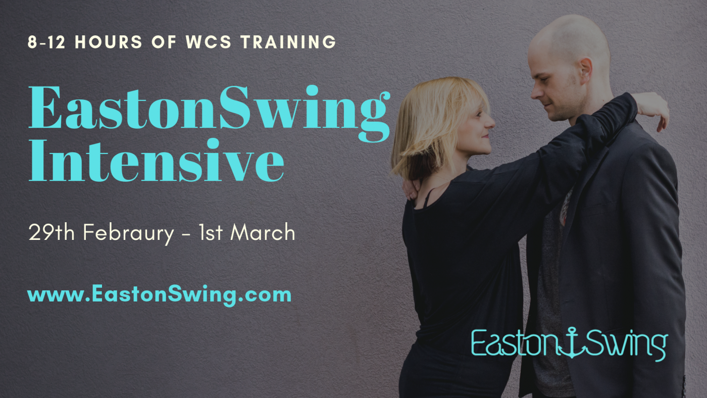 west coast swing training, a woman standing with her arms around a mans shoulders